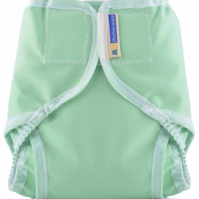Mother-ease -Rikki-Velcro-Diaper Cover-Seafoam-Green