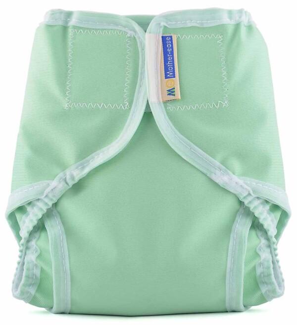 Mother-ease -Rikki-Velcro-Diaper Cover-Seafoam-Green