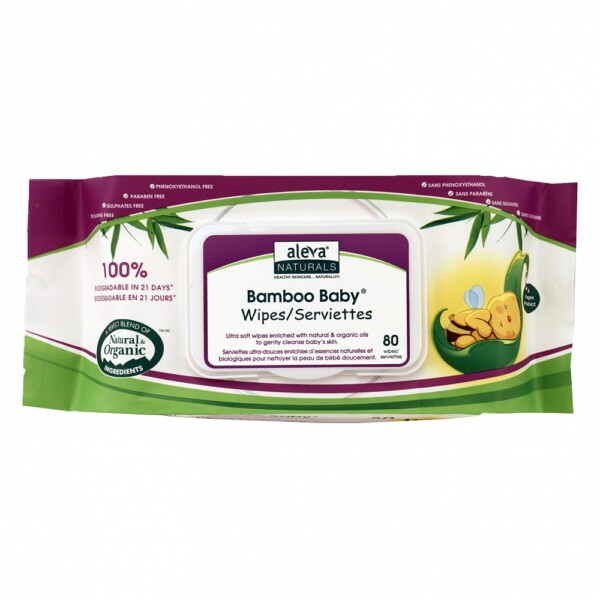 Bamboo Baby Wipes by Aleva Naturals