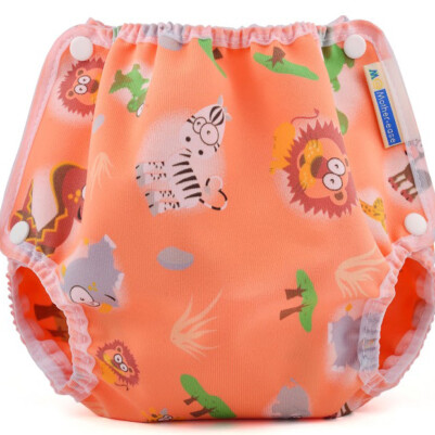Mother-ease Snap Closure Diaper Cover- Safari