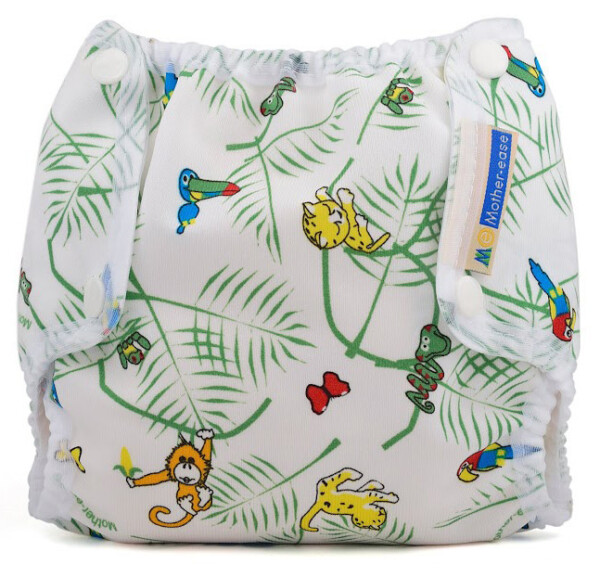 Mother-ease Airflow Snap Closure Diaper Cover- Rainforest