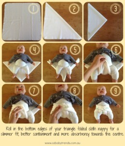 flat cloth diaper fold